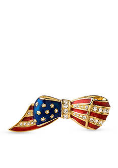 Carolee Gold-Tone Flag Pin