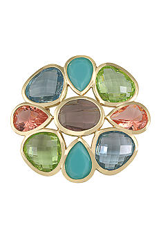 Carolee Large Jeweled Brooch