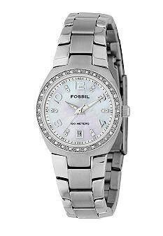 Fossil Women's White Glitz Watch