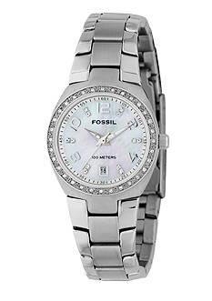 Fossil Women's White Glitz Watch