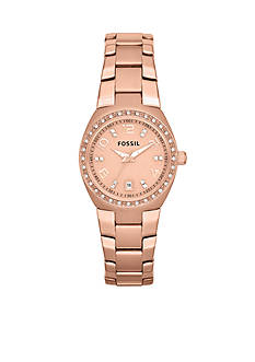 Fossil Women's Rose Gold-Tone Stainless Steel Watch