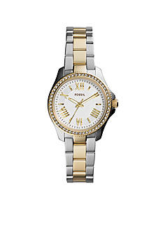 Fossil® Women's Two-Tone Stainless Steel Cecile Three-Hand Glitz Watch