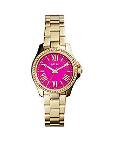 Fossil® Women's Gold-tone Stainless Steel Cecile Three Hand Glitz Watch