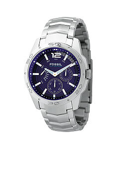 Fossil® Multifunction Navy Dial Watch
