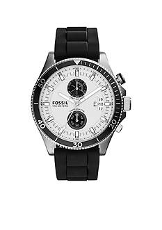 Fossil Men's Black Silicone Wakefield Chronograph Watch