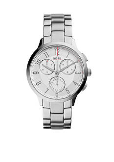 Fossil Women's Abilene Stainless Steel Bracelet Chronograph Watch