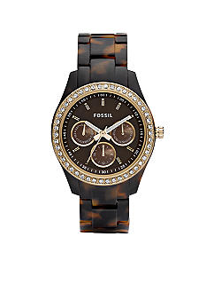 Fossil Ladies Stella Tortoise Bracelet with Chocolate Dial