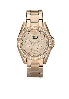 Fossil Riley Rose Gold Bracelet Watch
