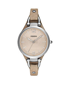 Fossil Georgia Women's Sand Leather Watch