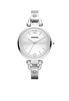 Fossil® Ladies Georgia Stainless Steel Bracelet Watch