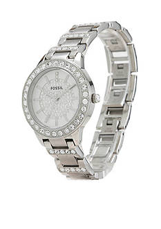 Fossil® Women's Stainless Steel Three Hand Jesse Glitz Watch