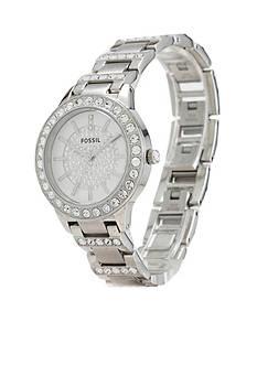 Fossil Women's Stainless Steel Three Hand Jesse Glitz Watch