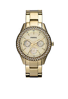 Fossil Ladies Round Gold Glitz Stella Watch