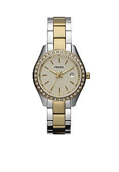 Fossil® Ladies Mini Stella Two Tone Glitz Watch