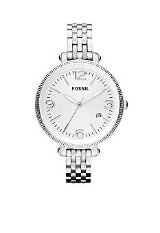Fossil Ladies Silver-Tone Stainless Steel Heather Watch