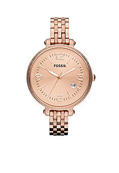 Fossil Ladies Rose Gold Tone Stainless Steel Heather Watch