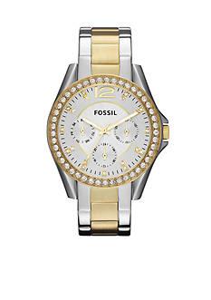 Fossil Women's Riley Two-Tone Glitz Watch