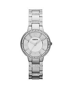 Fossil Women's Stainless Steel Virginia Three Hand Glitz Watch