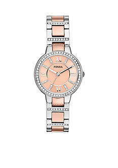 Fossil Women's Two-Tone Stainless Steel Three-Hand Glitz Virginia Watch