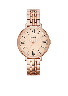 Fossil Women's Rose Gold-Tone Stainless Steel Three-Hand Jacqueline Watch