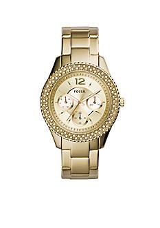 Fossil Women's Gold-Tone Stainless Steel Stella Multifunction Glitz Watch