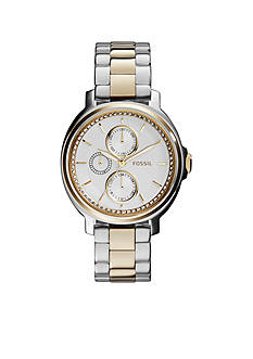 Fossil® Women's Two-Tone Stainless Steel Chelsey Multifunction Glitz Watch