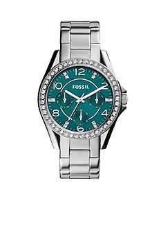 Fossil® Women's Stainless Steel Riley Multifunction Glitz Watch