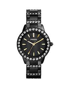 Fossil® Women's Black Stainless Steel Jesse Three Hand Glitz Watch