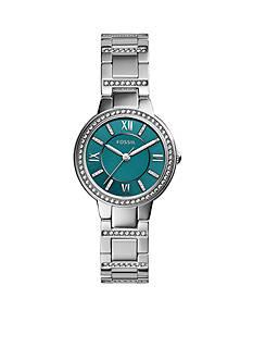 Fossil® Women's Stainless Steel Virginia Three Hand Glitz Watch