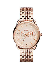 Fossil Women's Rose Gold-Tone Stainless Steel Tailor Multifunction Watch