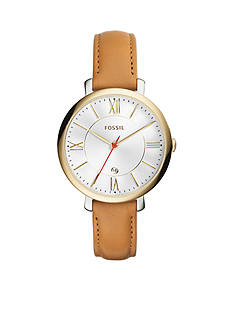 Fossil Jacqueline Three-Hand Date Tan Leather Watch