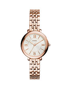 Fossil Jacqueline Three-Hand Rose Gold-Tone Stainless Steel Watch
