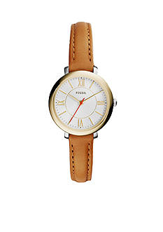 Fossil Brown Leather Three-Hand Jacqueline Watch