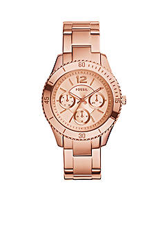 Fossil Women's Stella Multifunction Rose Gold-Tone Stainless Steel Watch
