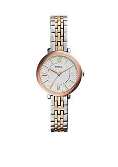 Fossil Women's Jacqueline Small Tri-Tone Stainless Steel Bracelet Watch