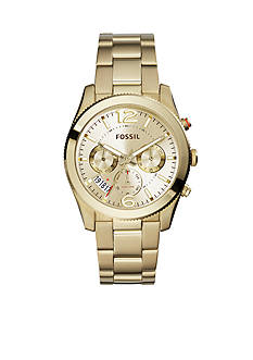 Fossil Perfect Boyfriend Gold-Tone Stainless Steel Multifunction Watch