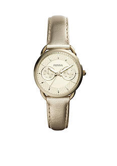 Fossil Women's Tailor Champagne Leather Multi Function Watch