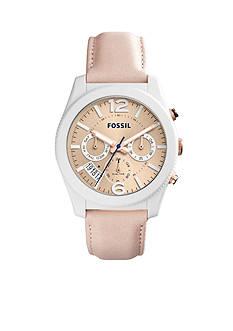 Fossil Women's Perfect Boyfriend Sport Multifunction Blush Glaze Leather Watch