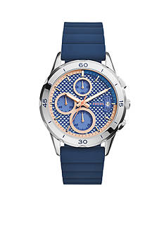 Fossil Women's Modern Pursuit Blue Silicone Chronograph Watch