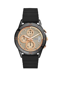 Fossil Women's Modern Pursuit Black Silicone Chronograph Watch