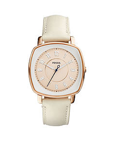 Fossil Watches Women's Idealist White Leather Watch