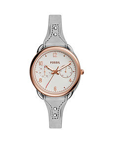 Fossil Women's Tailor Multifunction Iron Leather Watch