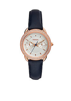 Fossil Women's Tailor Multifunction Indigo-Dyed Leather Watch