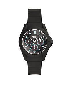 Fossil Watches Women's Poptastic Black Silicone Watch