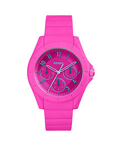 Fossil Watches Women's Poptastic Pink Silicone Watch