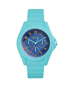 Fossil Women's Poptastic Turquoise Silicone Watch