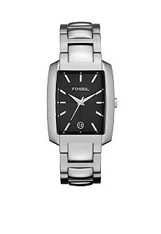Fossil® Men's Black Square Watch