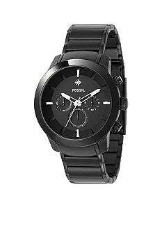 Fossil Mens Diamond Black IP Watch