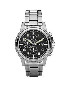 Fossil® Dean Chronograph Black Dial Watch