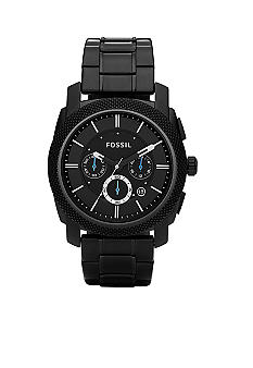 Fossil® Men's Black IP Bracelet 'The Machine' Watch